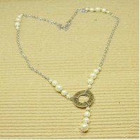Stainless Steel Fearless Pearls Necklace