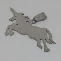 Stainless Steel pendant - unicorn