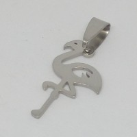 Stainless Steel pendant - Small Flamingo