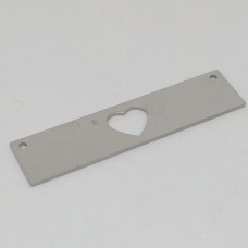 Stainless Steel tag - Cutout Heart