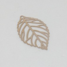 Stainless Steel Rose Gold Leave Pendant