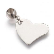Stainless Steel Pendant - Heart 1