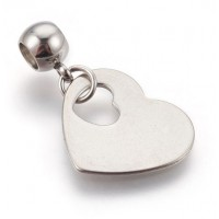 Stainless Steel Pendant - Heart 2