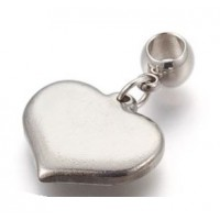 Stainless Steel Pendant - Heart 3
