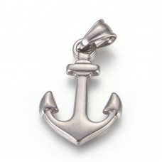 Stainless Steel Pendant - Large Anchor