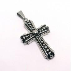 Stainless Steel Pendant - Bulk Large Cross