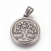 Stainless Steel Pendant - Medium Tree of Life
