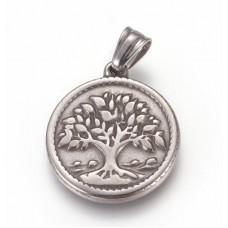 Stainless Steel Pendant - Medium Tree of Life