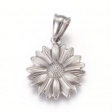 Stainless Steel Pendant - Flower