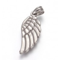 Stainless Steel Pendant - Medium Wing