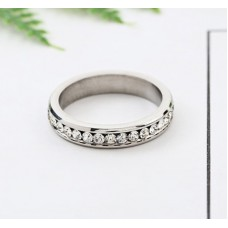 Stainless Steel Bling Ring #6