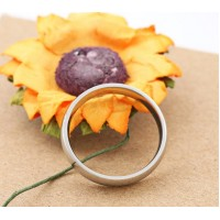 Stainless Steel Classic 3mm Ring #6
