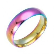 MULTI/Gold Plated Ladies Stainless Steel Ring #6