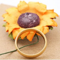 Stainless Steel Gold Classic 3mm Ring #9