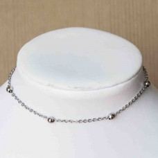 Stainless Steel Ankle Chain with medium beads