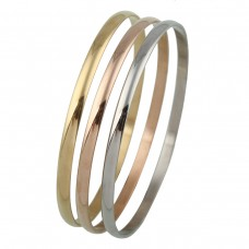 Stainless Steel Ladies SILVER 3.5mm Bangle