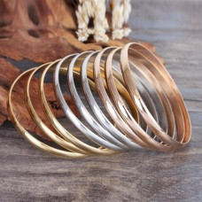 Stainless Steel ROSE GOLD Ladies 8mm Bangle
