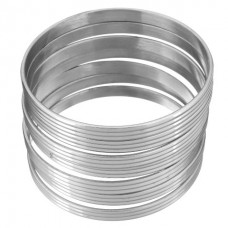 Stainless Steel Ladies 6mm Texture Bangle