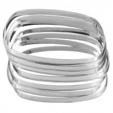 Stainless Steel Ladies Square 6mm Bangle