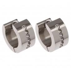 Stainless Steel Huggie Earrings