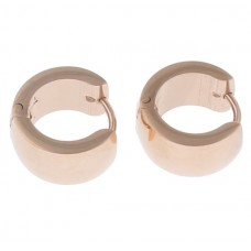 Rose Gold Plated Stainless Steel Huggie Earrings