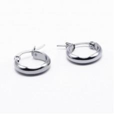 Stainless Steel Hoop Earrings 15mm
