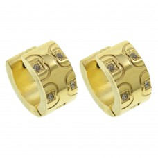 Gold Plated Stainless Steel Huggie Earrings