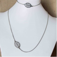 LEAF Stainless Steel Bracelet & Necklace set