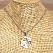Owl Stainless Steel Necklace
