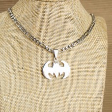 Stainless Steel Mens Necklace with Lizzard