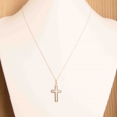 S925 Sterling Silver Classic Cross Necklace