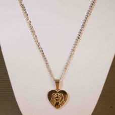 Gold Plated Angel Heart Stainless Steel Necklace