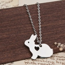 Bunny & Heart Stainless Steel Necklace