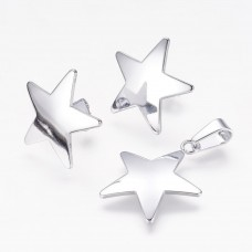 Stainless Steel Star Earring & Necklace set
