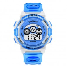 Blue/Gray Kids Water Resistant Rubber Watch