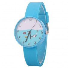 Funky Fish Silicone Watch - Blue