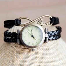 Faux Leather Infinity Watch