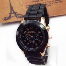 Silicone, with zinc alloy dial Watch
