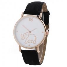 Faux Leather Elephant Watch