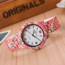 Acrylic with Rubber floral print  Watch