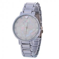 Stainless Steel & Bling Watch