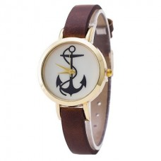 Faux Leather Anchor Watch