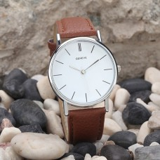 Unisex PU Leather Watch
