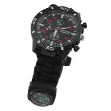 Black 7 Core Paracord SOS Watch