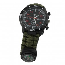 Green 7 Core Paracord SOS Watch