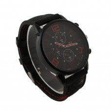 Mens Red Detail Silicone Watch