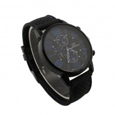 Mens Blue Detail Silicone Watch